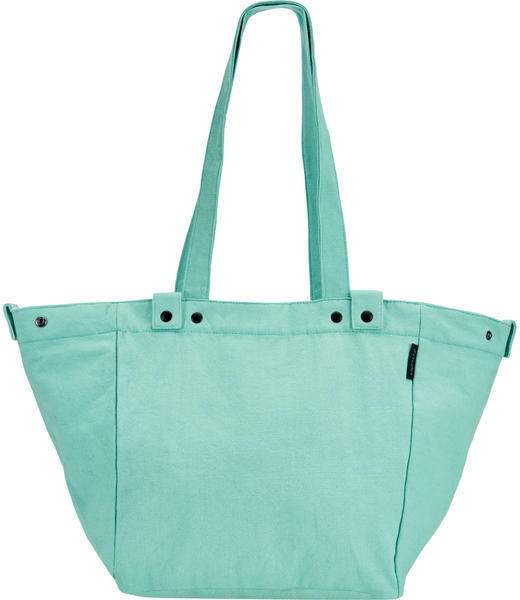 Electra Waxed Canvas Basket Tote Color: Aqua