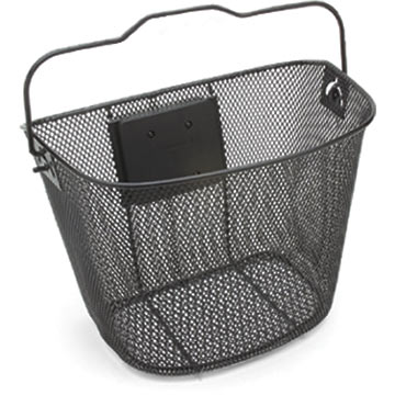 Electra Quick-Release Wire Basket Color: Black