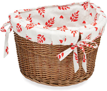 Electra Cruiser Wicker Basket w/Gypsy Liner