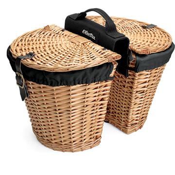 Electra Rear Rack Wicker Baskets w/Removable Liners