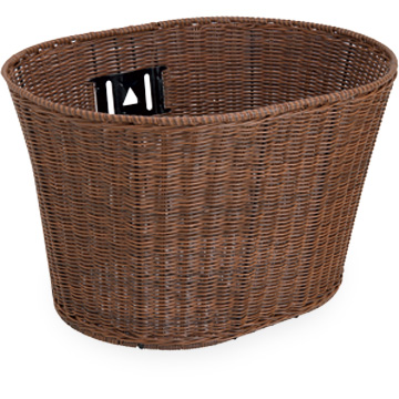 Electra Plastic Wicker Basket Color: Brown
