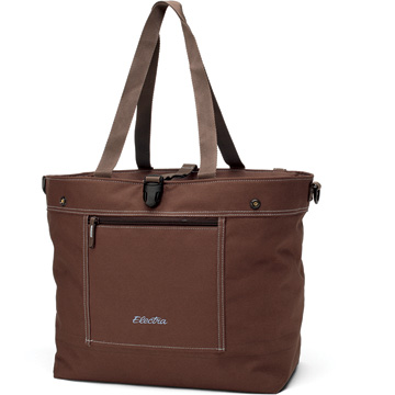 Electra Rear Rack Expandable Tote Bag Color: Brown