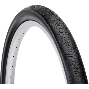 Electra Kids' Cruiser Blossom Trail Tire (Black w/Flowers)
