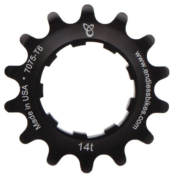 Endless Bike Anodized Kick Ass Cog Color | Size: Black Anodized | 14T