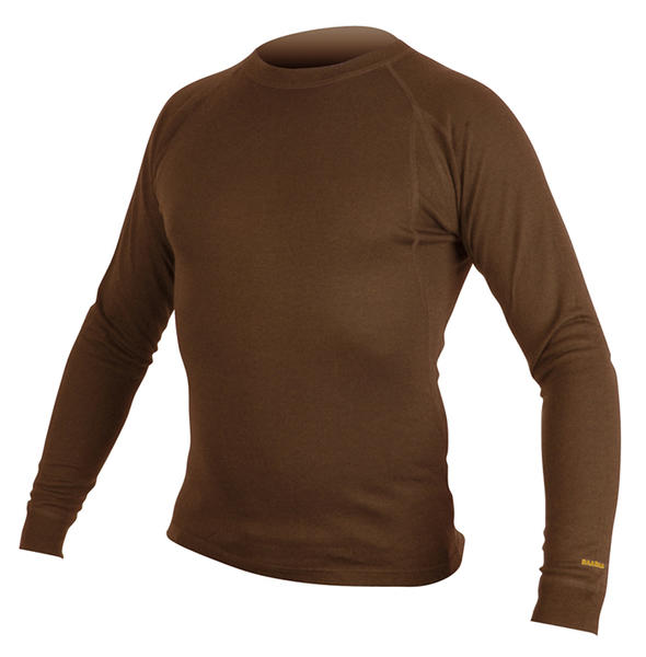 Endura BaaBaa Merino Long Sleeve Baselayer Color: Chocolate