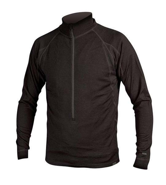 Endura BaaBaa Merino Long Sleeve Zip-Neck Jersey