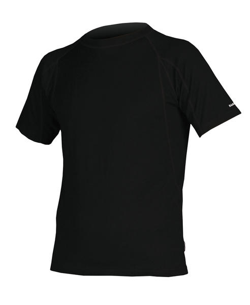 Endura BaaBaa Merino Short Sleeve Baselayer Color: Black