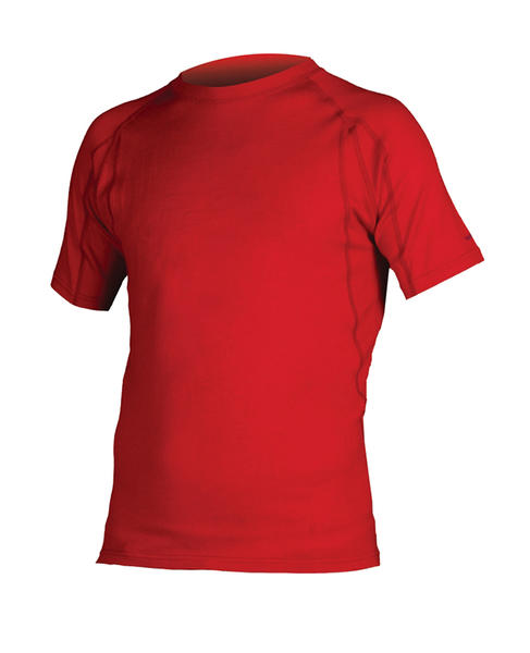 Endura BaaBaa Merino Short Sleeve Baselayer Color: Red