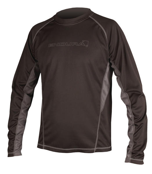 Endura Cairn Long Sleeve T-Shirt Color: Black/Gray