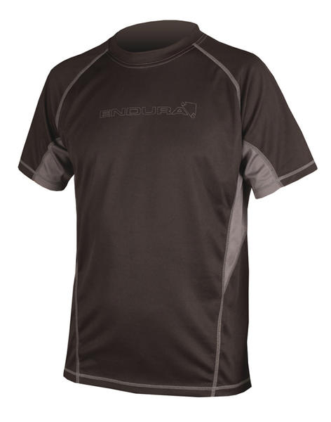 Endura Cairn Short Sleeve T-Shirt Color: Black/Gray