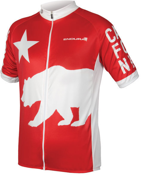 Endura California Jersey Full Zip S/S Color: Red