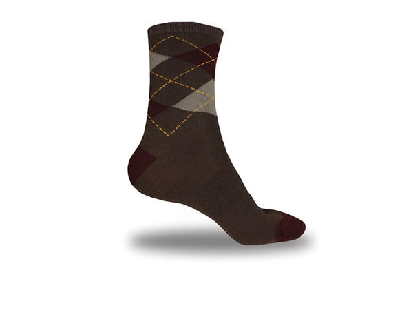 Endura Argyll Socks: Twin Pack Color: Burgundy