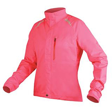 Endura Gridlock II Waterproof Jacket - Women's Color: Hi-Vis Pink