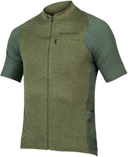 Endura GV500 Reiver S/S Jersey Color: Olive Green
