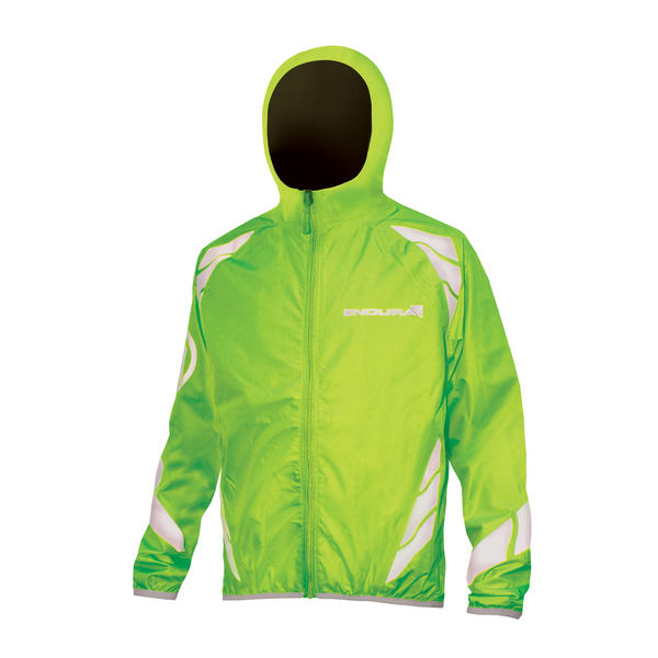 Endura Kids Luminite II Jacket Color: Hi-Viz Green