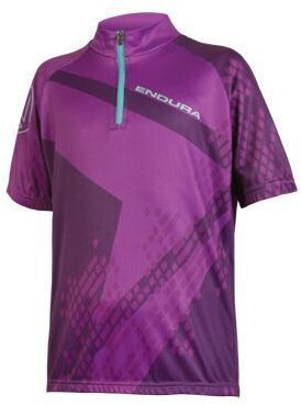 Endura Kids' Ray S/S Jersey Color: Purple