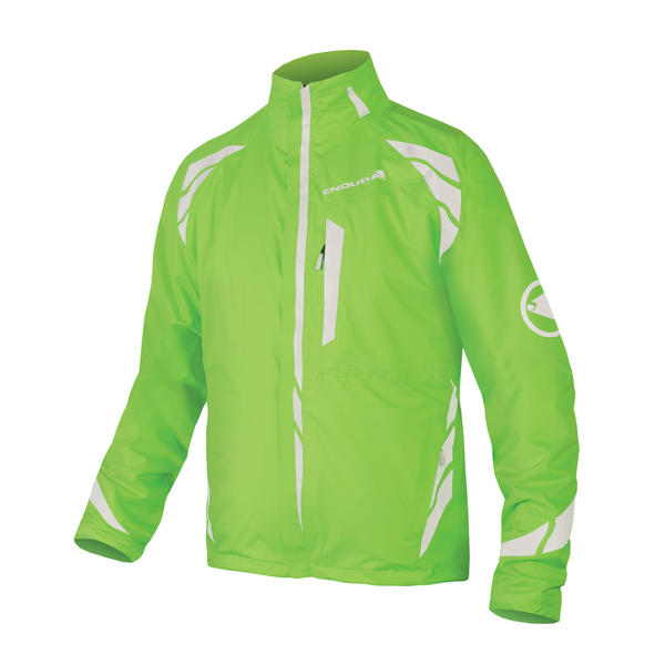 Endura Luminite 4-in-1 Jacket Color: Hi-Viz Green