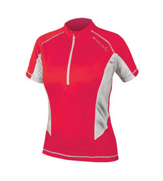 Endura Pulse Short Sleeve Jersey - Women's Color: Coral