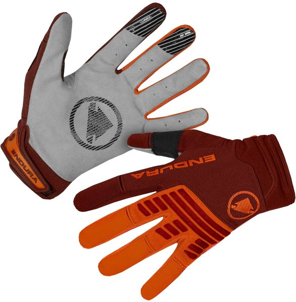 Endura SingleTrack Glove Color: Tangerine