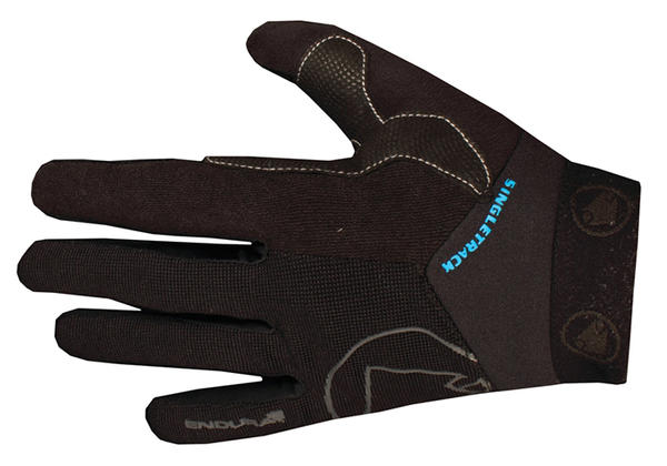 Endura Singletrack II Gloves Color: Black/ Ultramarine