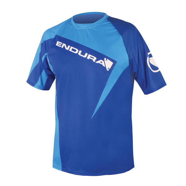 Endura Singletrack Print II T Color: Blue