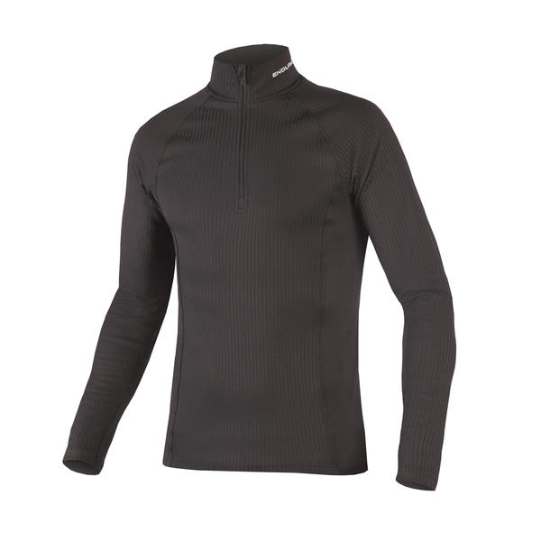 Endura Transrib High Neck Baselayer Color: Black