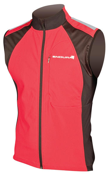 Endura Windchill II Gilet Color: Red