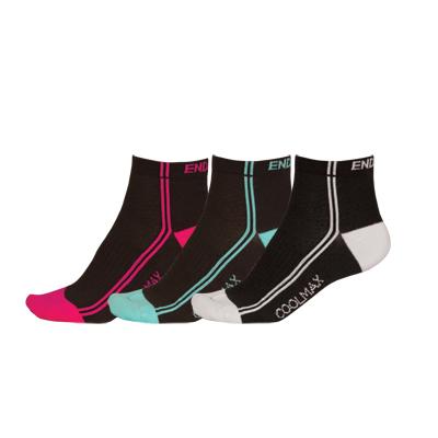 Endura Wms COOLMAX Stripe Sock (3-Pack)
