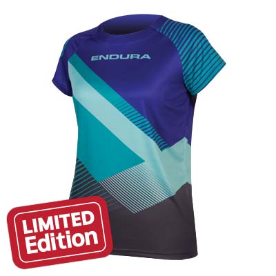 Endura Wms STrack Print T II LTD Color: Cobalt Blue