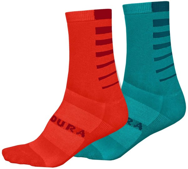 Endura Women's Coolmax Stripe Socks (Twin Pack)
