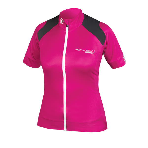 Endura Women's Hyperon Short Sleeve Jersey Color: Cerise