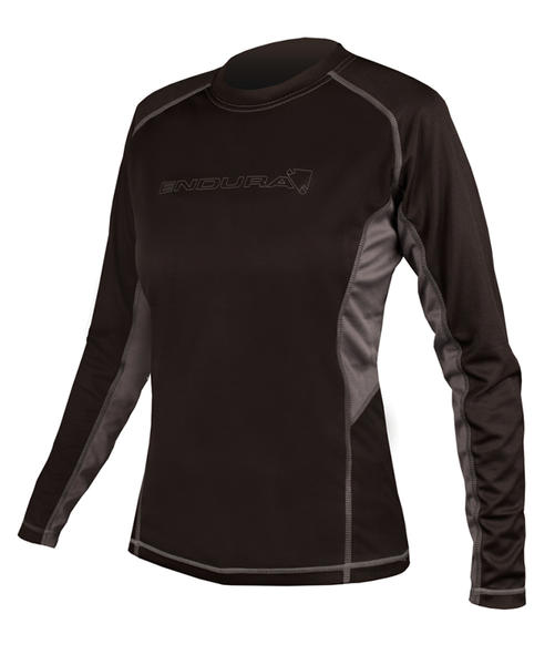 Endura Wms Pulse Long Sleeve Shirt Color: Black/Gray