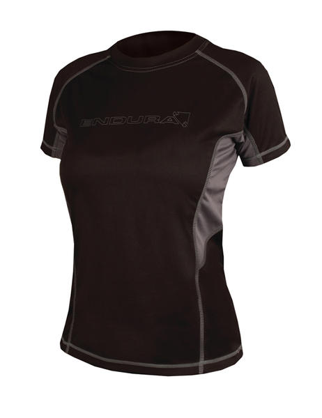 Endura Wms Pulse Short Sleeve Shirt Color: Black/Gray