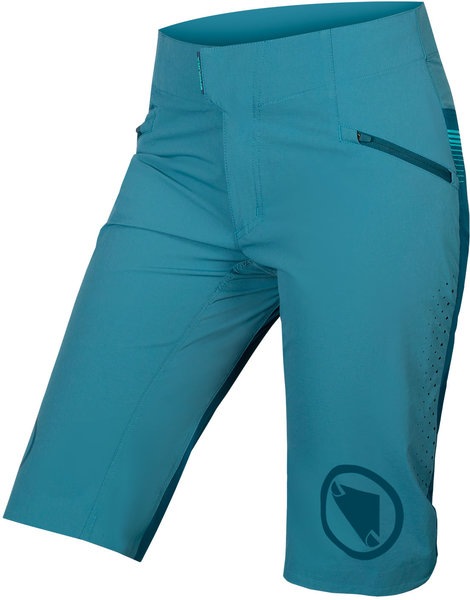 Endura Women's SingleTrack Lite Short Color: Kingfisher