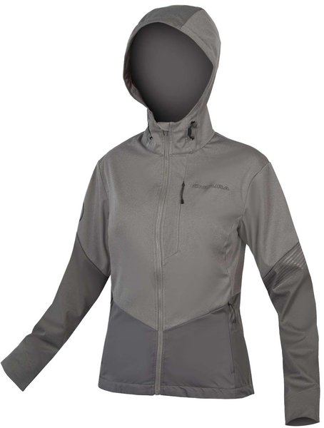 Endura Women's SingleTrack Softshell II Color: Pewter Grey
