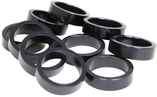 Evo Aluminum Headset Spacers Color | Size | Steerer Diameter: Black | 10mm | 1-1/8-inch