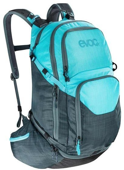 evoc EXPLORER PRO 30L Color: Heather Slate/Heather Neon Blue