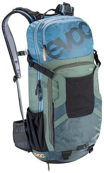 evoc FR ENDURO TEAM 16L Color: Copen Blue/Olive/Slate