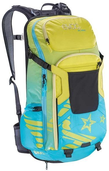 evoc FR TRAIL WOMEN 20L Color: Sulphur/Neon Blue