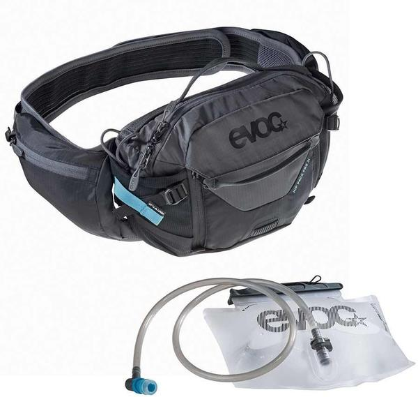 evoc Hip Pack Pro + 1.5L Bladder Color | Fluid Capacity | Gear Capacity: Black/Carbon Grey | 1.5L | 3L