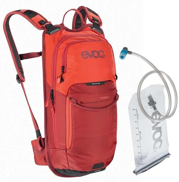 evoc Stage 6 + 2L Bladder Color | Fluid Capacity | Gear Capacity: Orange/Chili Red | 2L | 6L