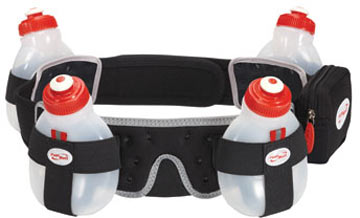 FuelBelt Helium H2O 4-Bottle Belt Color: Black