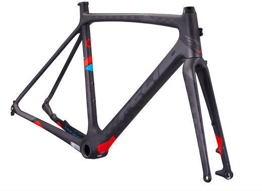 Felt Bicycles F FRDx Frameset Color: Matte Textreme (Reflective Silver, Red, Blue)