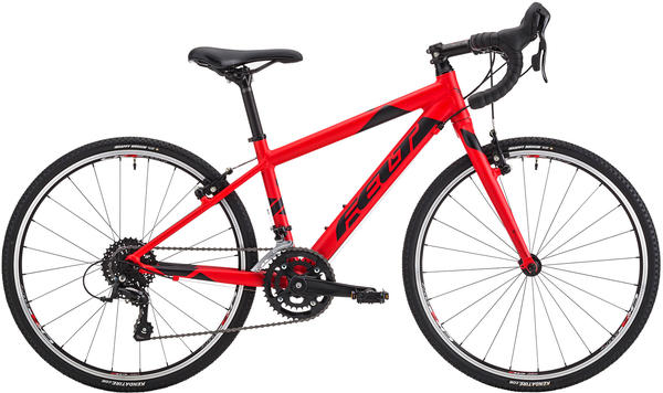 Felt Bicycles F24X Color: Matte Fluoro Red (Black)