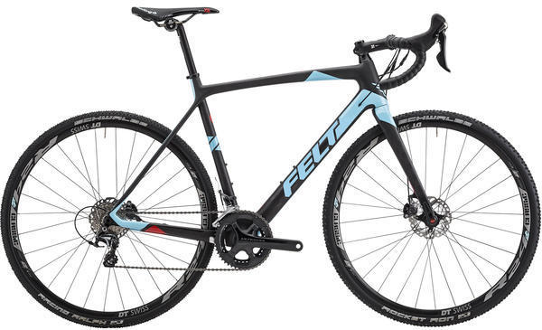 Felt Bicycles F3x Color: Matte Textreme (Gloss Paste Blue/Fluoro Red)