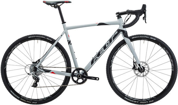 Felt Bicycles F55X Color: Matte Primer Grey (Black & Fluoro Red)