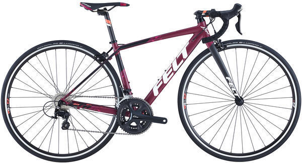Felt Bicycles FR30W Color: Matte Merlot (White, Fiesta Red)