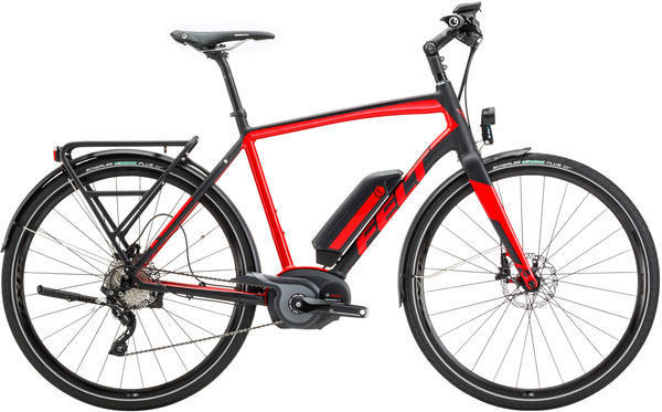 Felt Bicycles Sport-e 85 HP Color: Matte Black (Gloss Race Red) Reflective