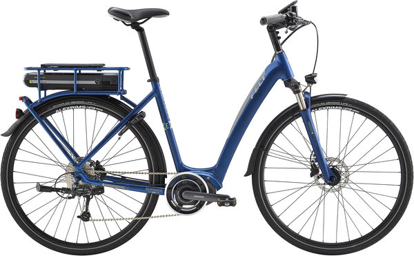 Felt Bicycles Verza-E 30 S Color: Matte Steel Blue/Silver/Lime Reflective