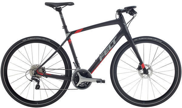 Felt Bicycles Verza Speed 3 Color: Matte Carbon (Reflective Red, Charcoal)